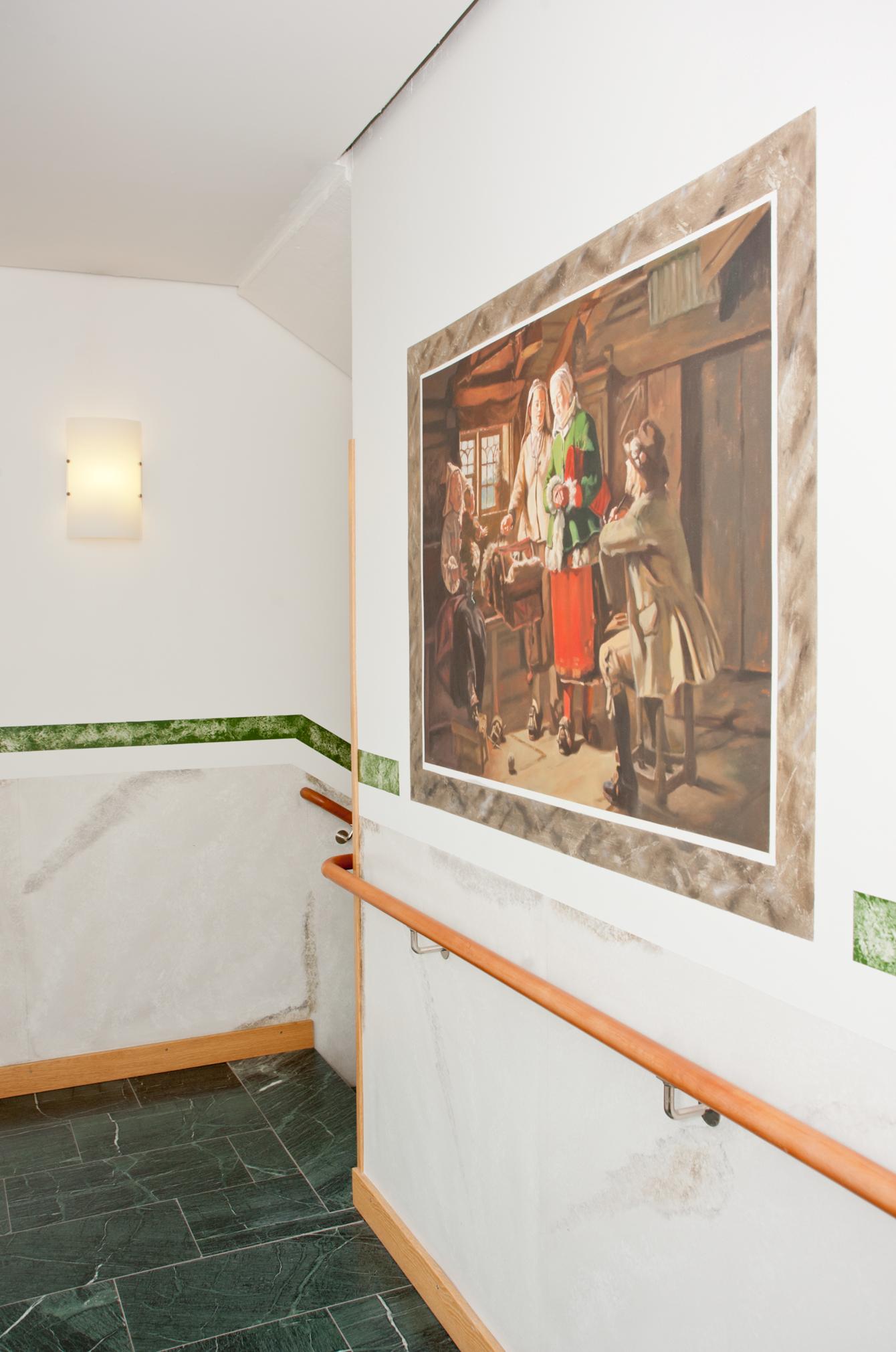 Reproduktion av Claes-Åke Schlönzig - Johan Fredrik Höckert - Gudmors besök - Klicka för att byta till närbild.