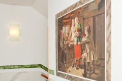 Reproduktion av Claes-Åke Schlönzig - Johan Fredrik Höckert - Gudmors besök