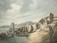 Reproduktion av Claes-Åke Schlönzig - Johan Fredrik Höckert - Begravning i Lappland