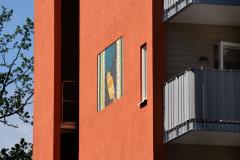 Fasadkonst: Jill Lindström - Kanariefågel I