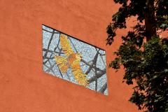 Fasadkonst: Jill Lindström - Kanariefågel II