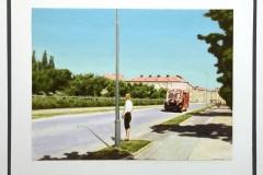 Claes-Åke Schlönzig - Linje bus på Västra vägen (1940 talet)