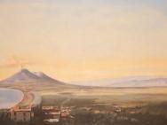 Reproduktion av Claes-Åke Schlönzig - Johan Thomas Lundby - Landskap mot Vesuvius (1842)