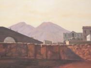Reproduktion av Claes-Åke Schlönzig - Gustav Söderberg - Utsikt mot Vesuvius (1820)