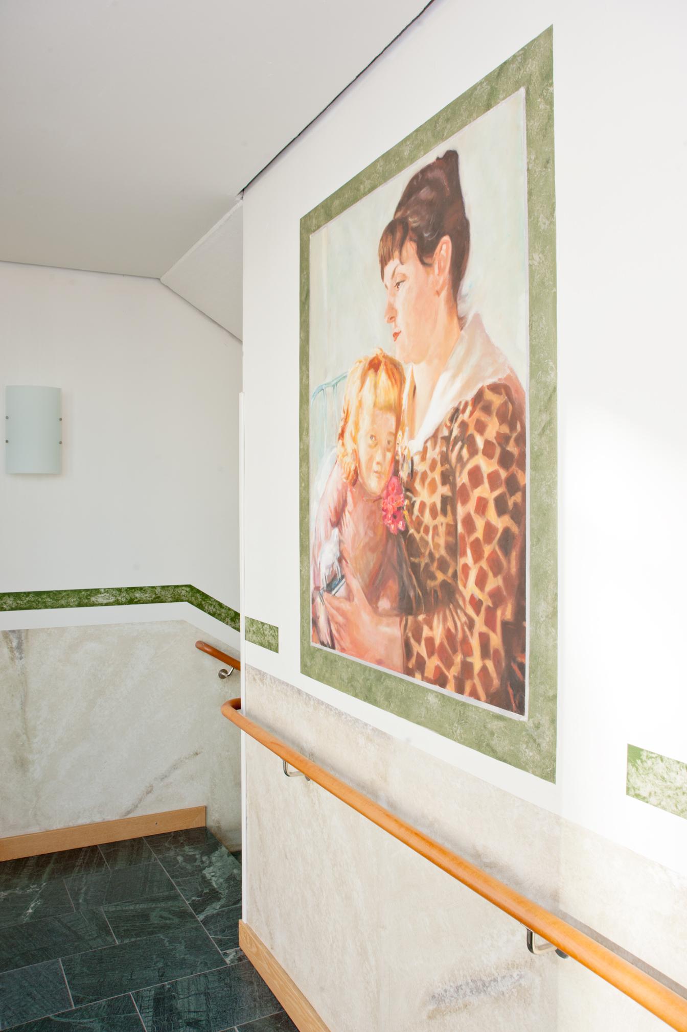 Reproduktion av Claes-Åke Schlönzig - Ernst Josephsson - Mor och barn - Klicka för att byta till närbild.