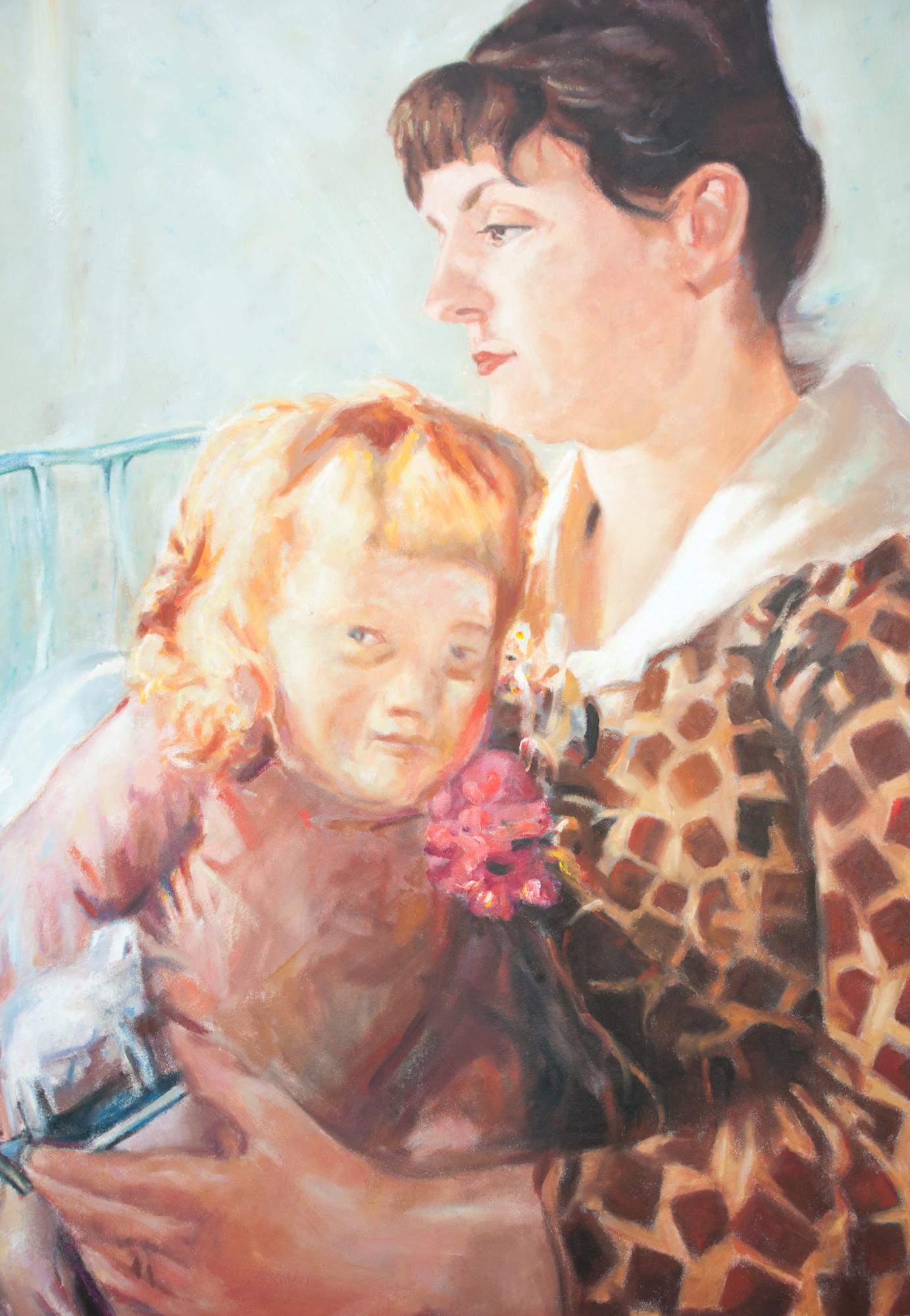 Reproduktion av Claes-Åke Schlönzig - Ernst Josephsson - Mor och barn - Klicka för att byta till perspektivbild.