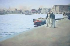 Reproduktion av Claes-Åke Schlönzig - Anders Zorn - Utsikt från skeppsholmskajen