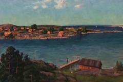 Reproduktion av Claes-Åke Schlönzig - Elias Erdtman - Båtstugan