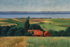 Reproduktion av Claes-Åke Schlönzig - Elias Erdtman - Vid Gränna Visingsö