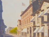 Storgatan, tidningen Östgötens hus med Isidor Kjellberg (1870)