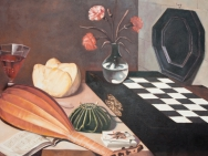 Claes-Åke Schlönzig - Baugin - Stilleben med schackbräde