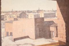 Utsikt från Tanneforskyrkan mot Vetegatan