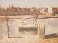 Färjan över Stångån - Tinnerbäcken (1920-tal)
