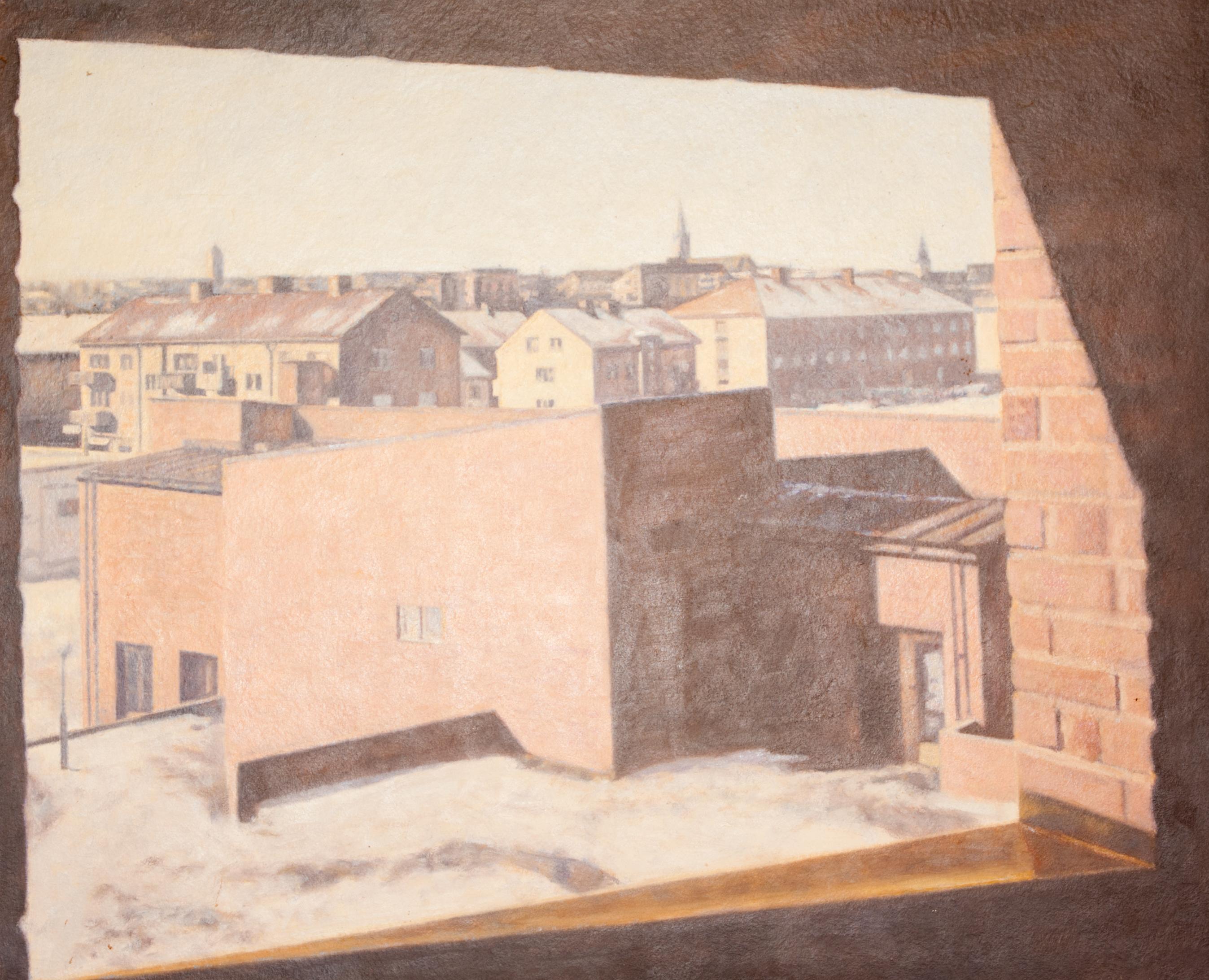 Utsikt från Tannefors kyrkan - Klicka för att byta till perspektivbild.