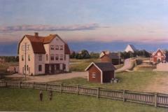 Prästgårdsvägen mot kyrkan Täby - 1908