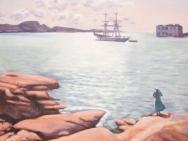 Reproduktion av Claes-Åke Schlönzig - Johan E Eriksson - Sommar Marstrand 1917