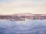 Claes-Åke Schlönzig - Utsikt över göteborgs hamn 1921