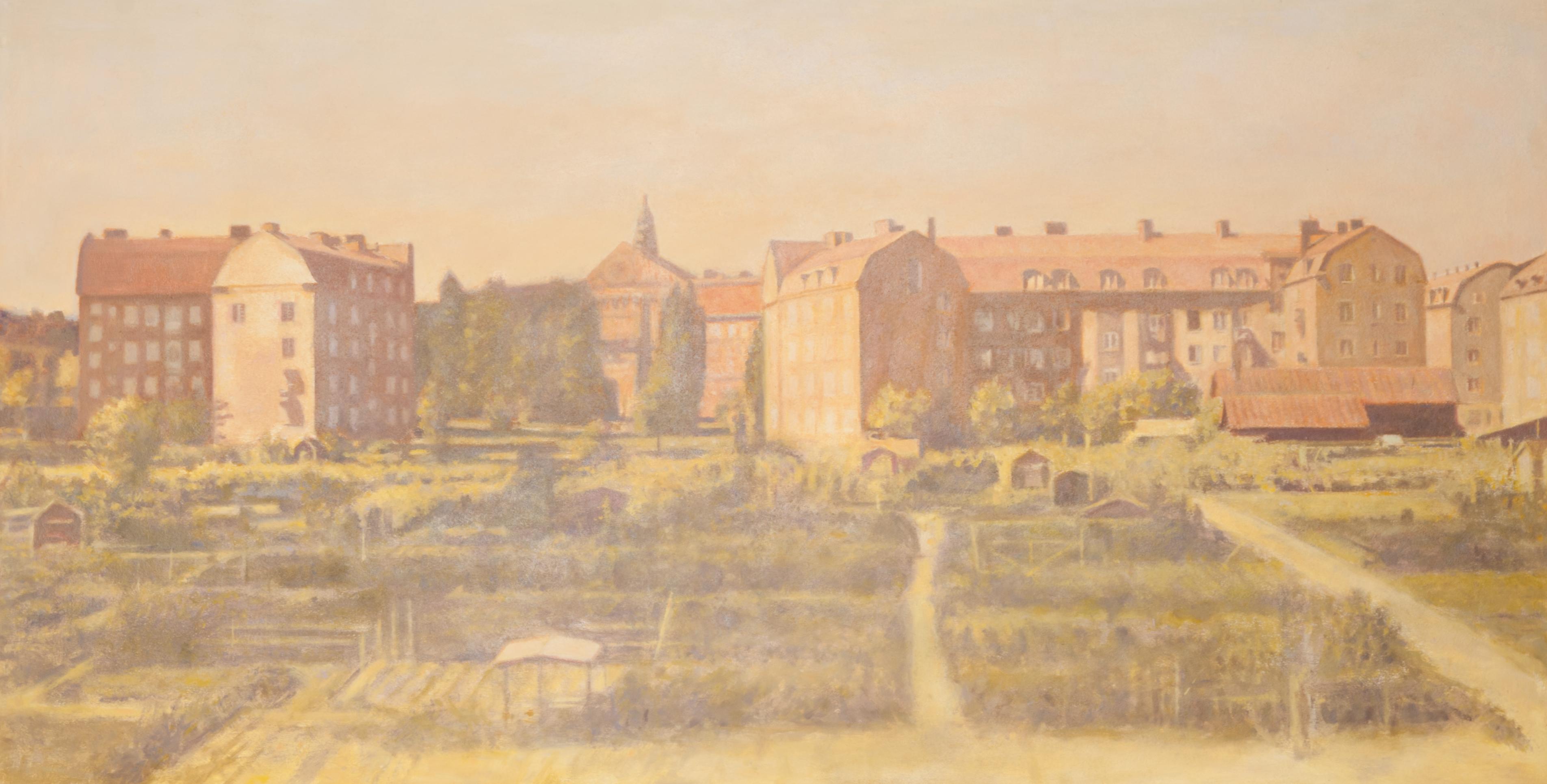 Claes-Åke Schlönzig - Vasastadens koloniträdgårdar (1910) - Klicka för att byta till perspektivbild.