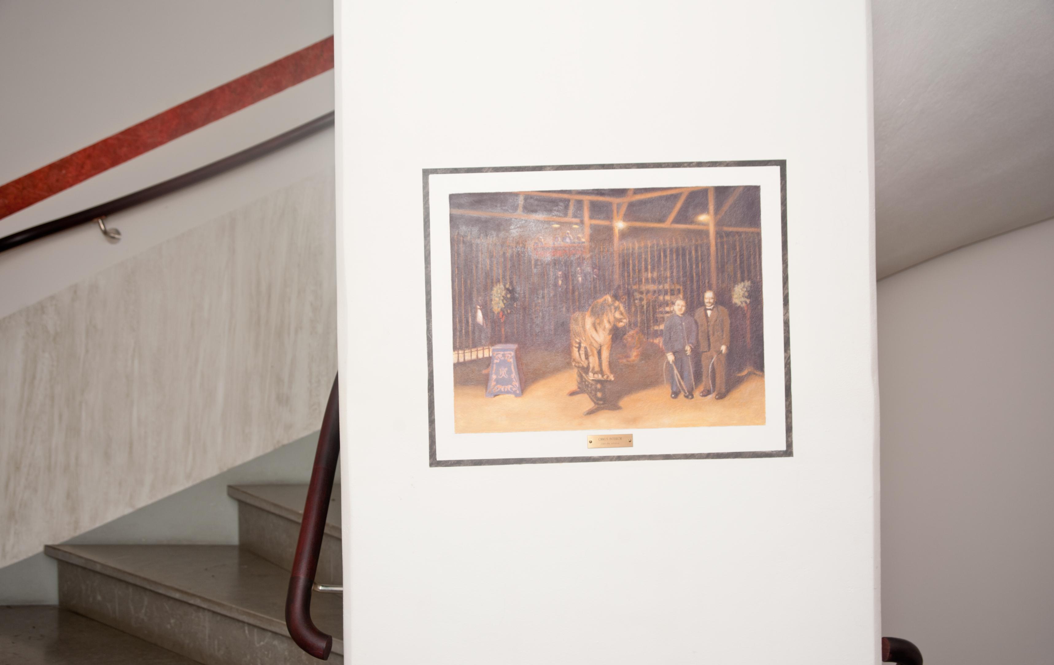 Claes-Åke Schlönzig - Interiör från cirkusbyggnaden - Klicka för att byta till närbild.