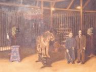 Claes-Åke Schlönzig - Interiör från cirkusbyggnaden