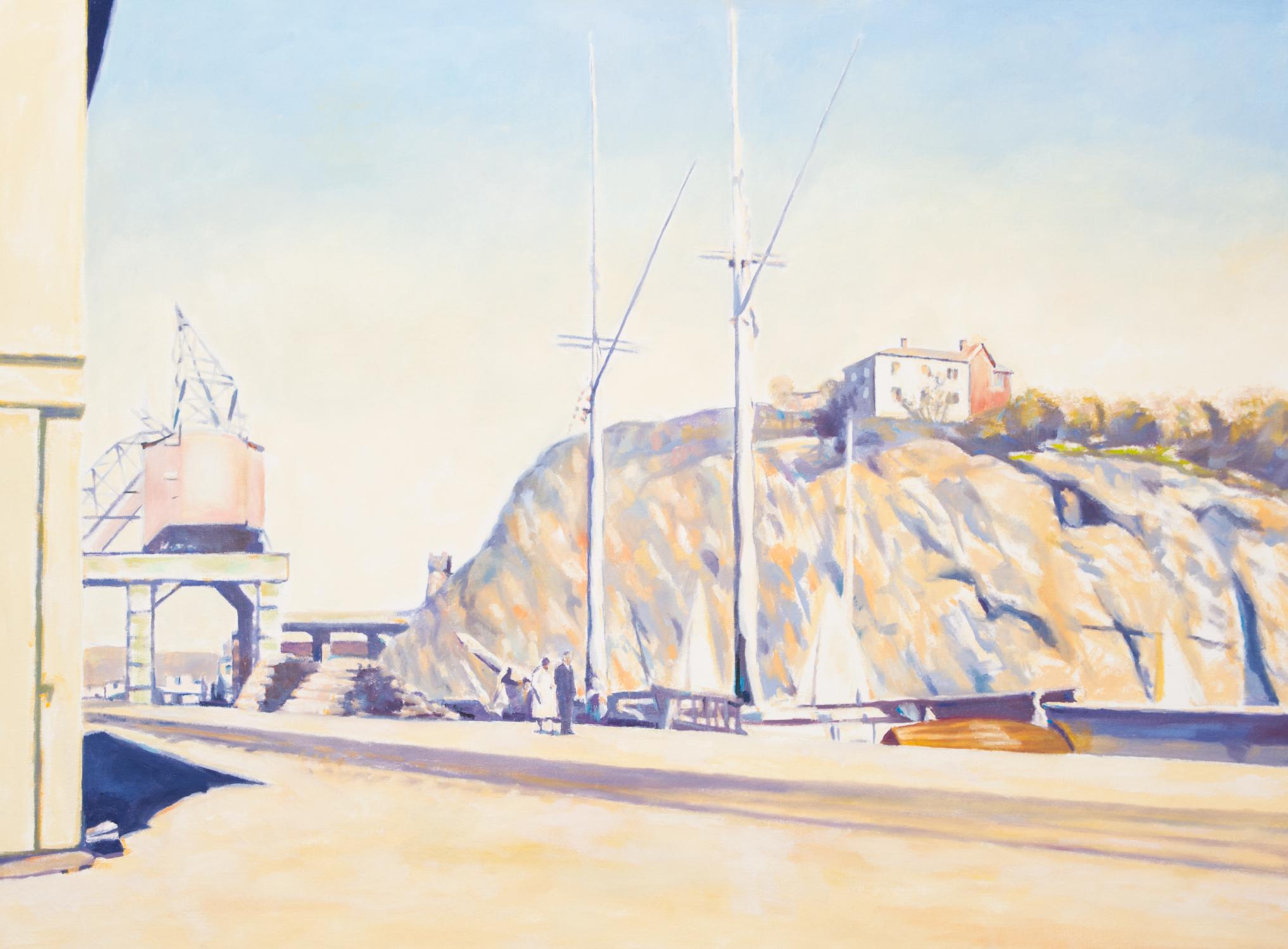 Claes-Åke Schlönzig - Danviks kanal 1920-tal - Klicka för att byta till perspektivbild.