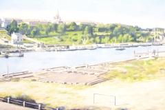 Claes-Åke Schlönzig - Vy norrut från Hammarby mot Södermalm 1930