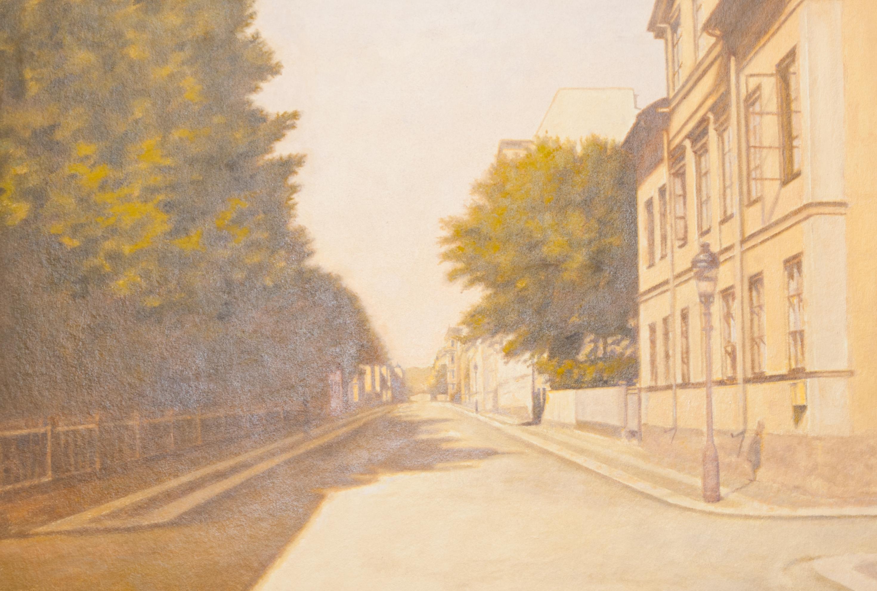 Utsikt från Snickaregatan uppåt Drottninggatan (1910)