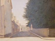 Gatubild från Snickaregatan mot Linnegatan (1910)