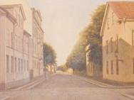 Drottninggatan öster ner mot Snickaregatan (1910)