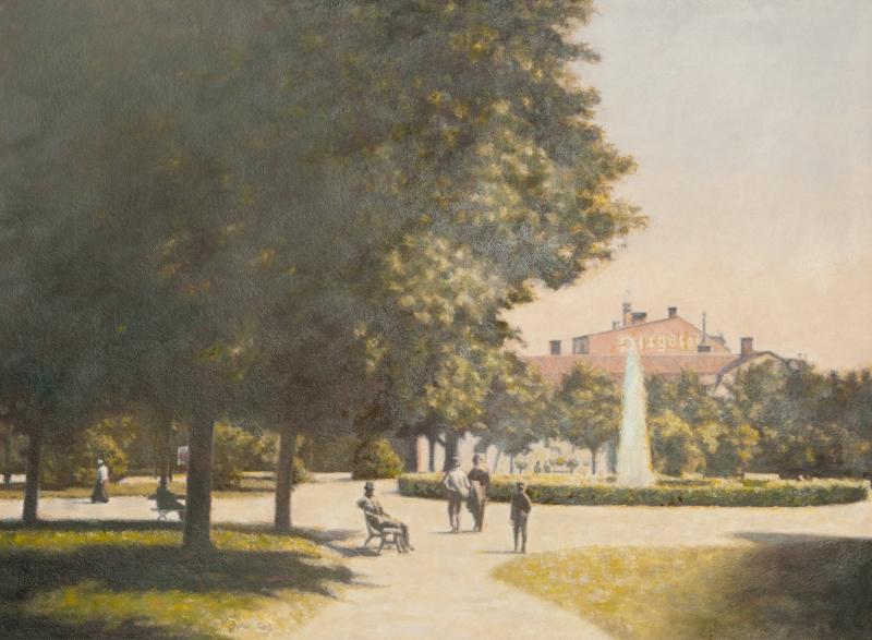 S:t Larsparken och Östgötens tidningshus (1890-tal)