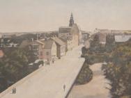 Utsikt mot hörnet S:t Larsgatan - Kungsgatan (1910-tal)
