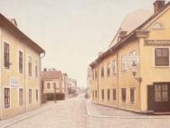 Trädgårdstorget mot Drottninggatan (1910-tal)