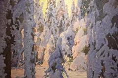 Carl Brandt - Skog i vinterskrud