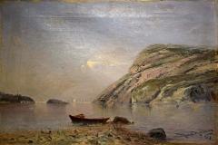 Max Haenel - Kustmotiv med båtar