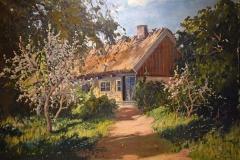 Carl Brandt - Vårlandskap med blommande träd