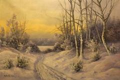 Anshelm Dahl - Solbelyst vinterlandskap