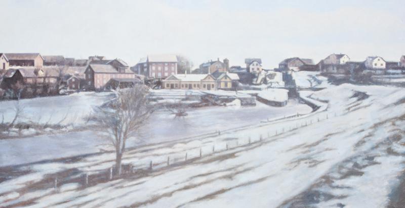 Vinterbild Tannefors slussar