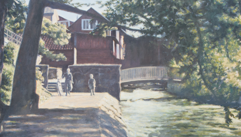 Gångbron över forsrännan (1950-tal)