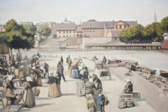 Marknadsplats vid Strömmen