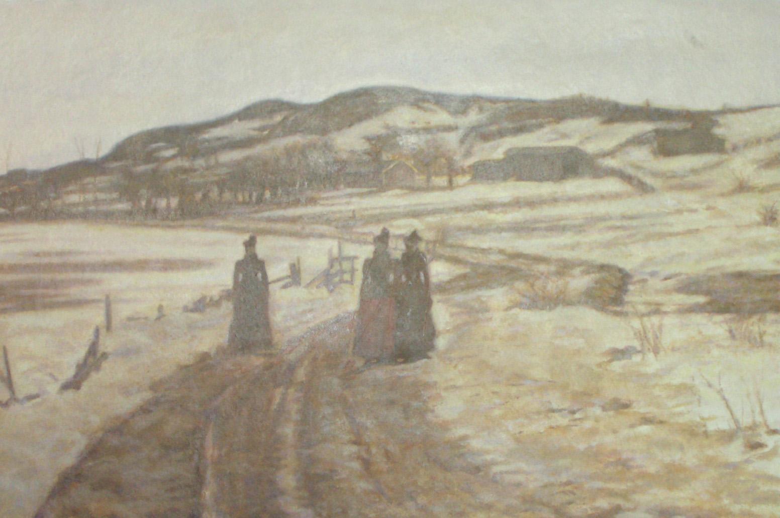 Risbrinksvägen vintertid (1890) - Klicka för att byta till perspektivbild.