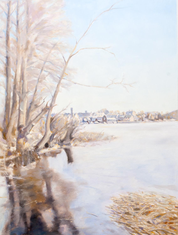 Claes-Åke Schlönzig - Hammarby sett mot norr 1890 - Klicka för att byta till perspektivbild.