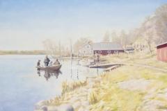 Claes-Åke Schlönzig - Strandmotiv från Hammarby sjö 1891