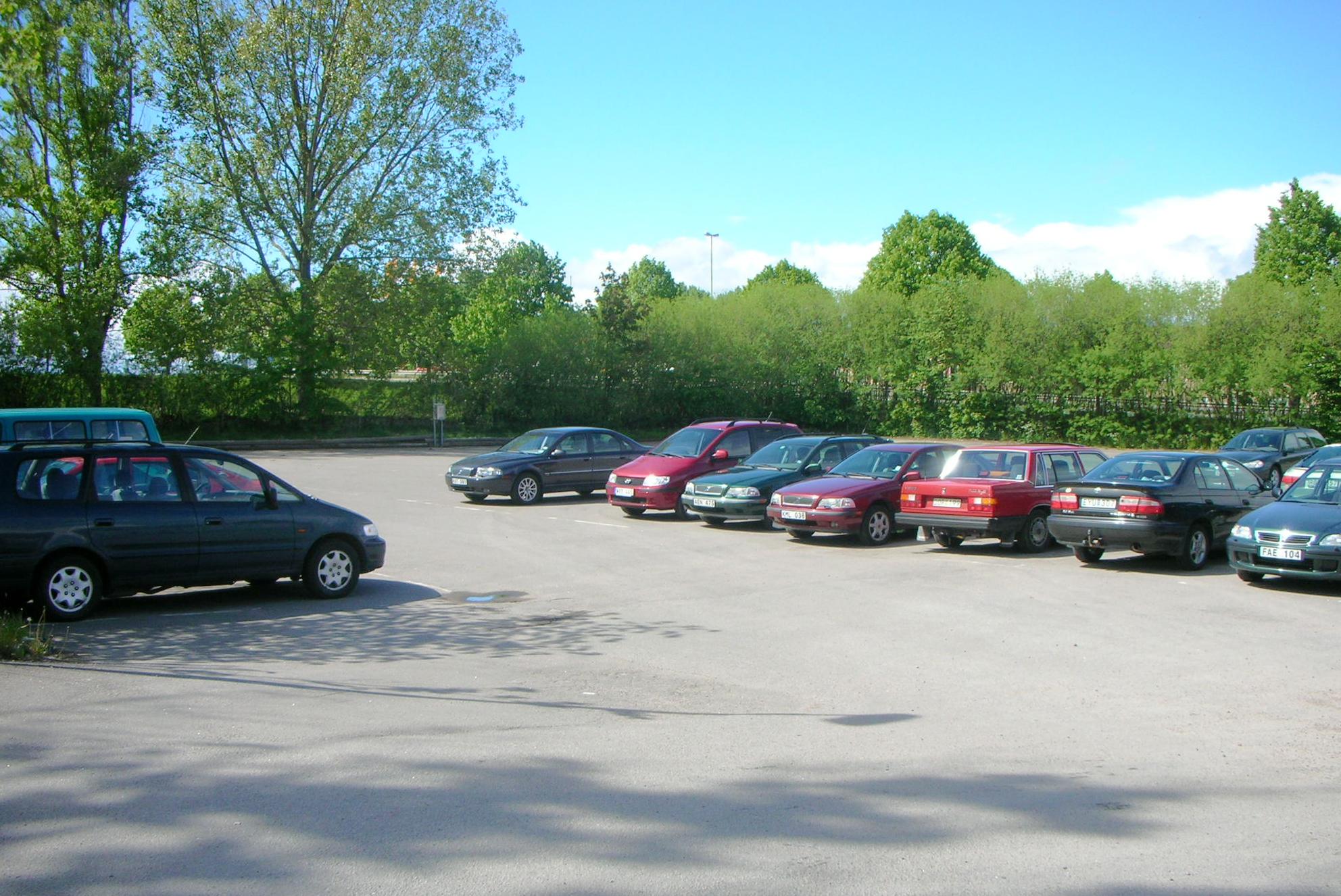Parkering vy från Industrigatan